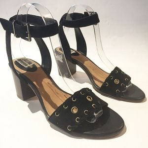CLARKS ARTISAN ANKLE STRAP CHUNKY SANDALS 6.5